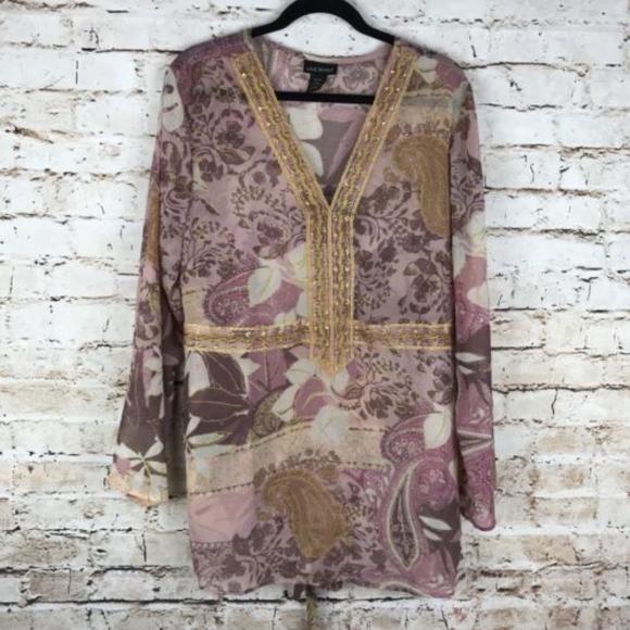 Lane Bryant Tops Pink Plus Size 1820 Polyester Blouse Poshmark